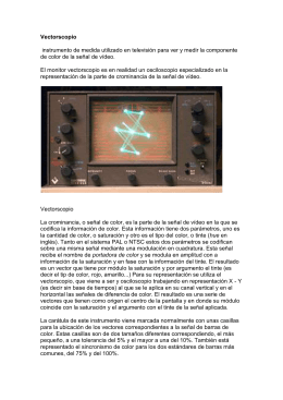 vectoscopio y generedor