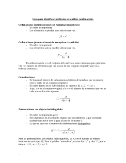 Gu a para resoluci n de problemas An lisis combinatorio