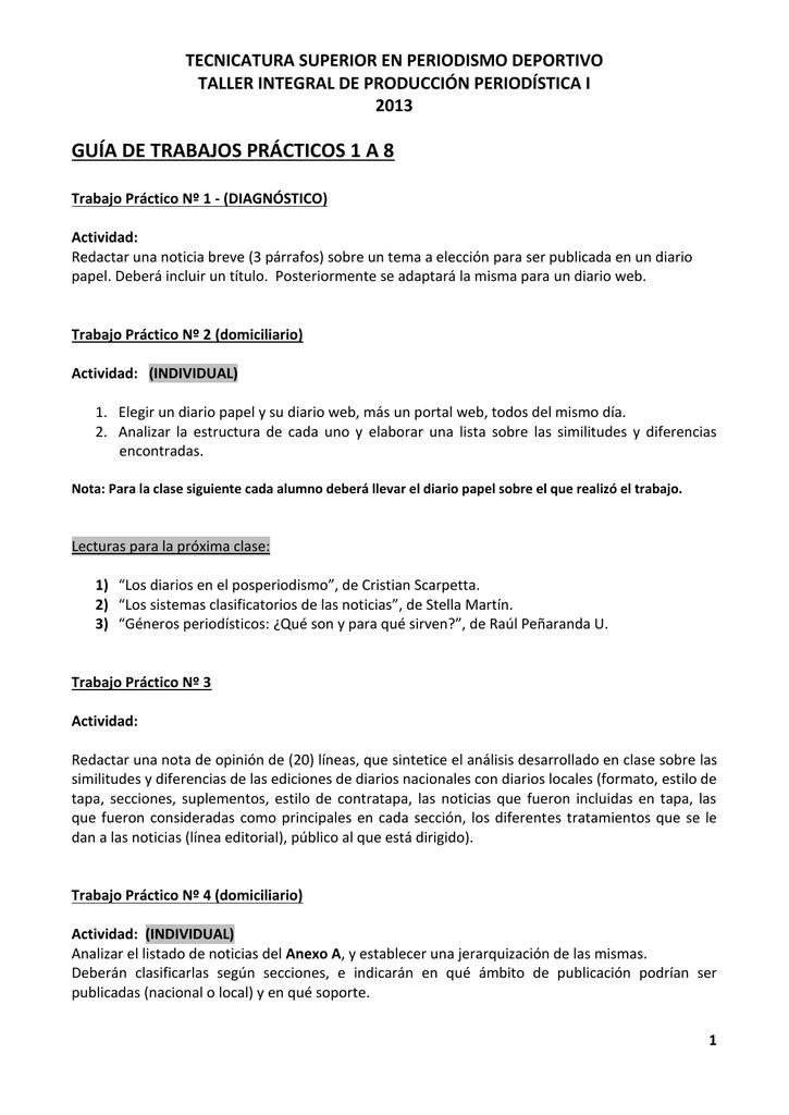 Ciclo 2013 Trabajos Prácticos 1 A 8 Doc