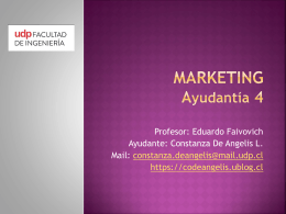 ayudantia 4 marketing 1er semestre 2013