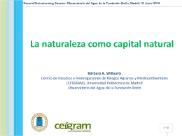 La naturaleza como capital natural