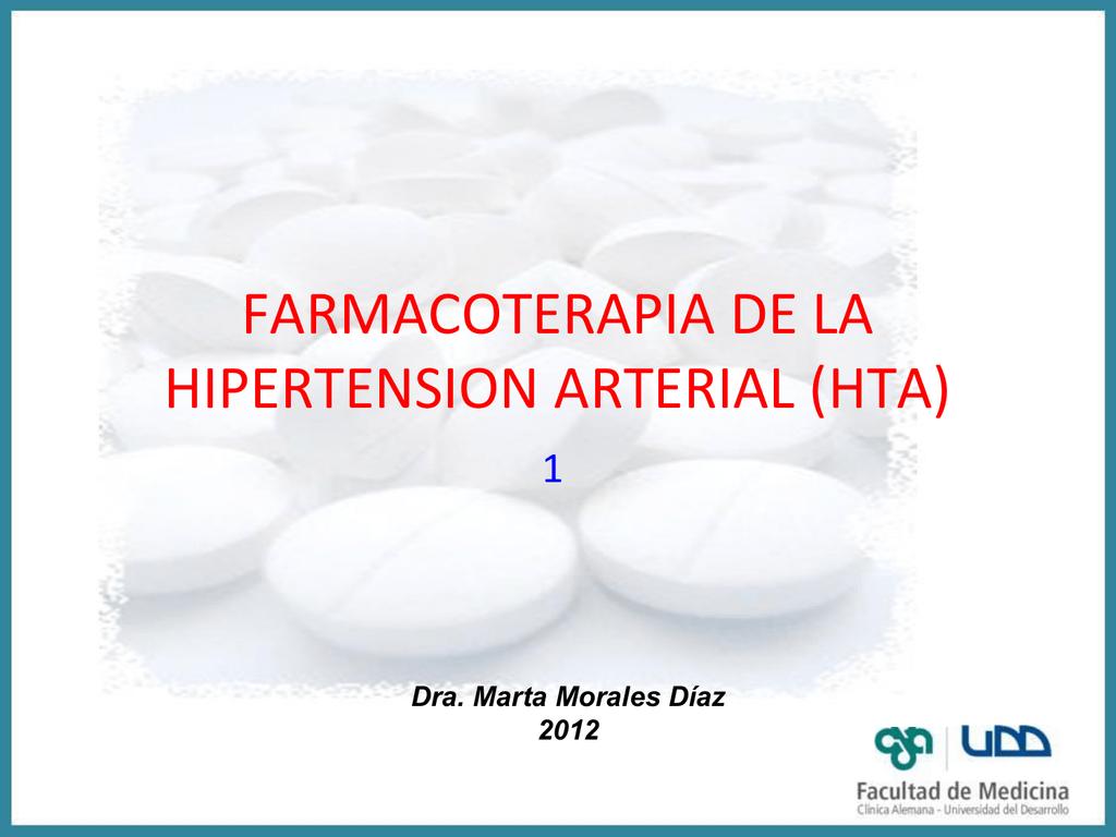 Hipertensión farmacológica ppt libre