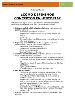 Definir en Historia