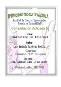 Tarea Marketing en Internet