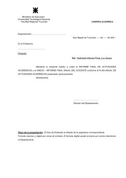 solicitud de formularios informes finales de los docentes junto con sus respectivos anexos