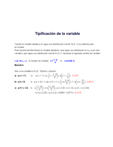 ES0801 Tipificación de la variable