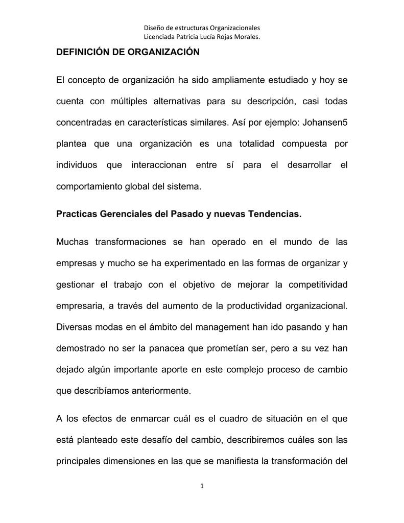 Antologia De Diseño De Estructuras Organizacionales