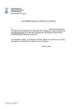 Autorización de datos (Formato .doc)