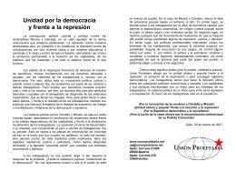 Unidad por la democracia