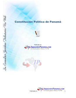Constitución Política de la República de Panamá