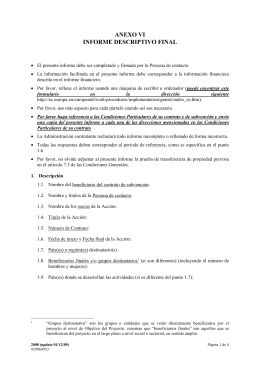 Anexo VI Informe Descriptivo Final