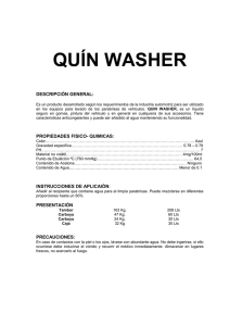 QUÍN WASHER  DESCRIPCIÓN GENERAL: