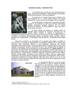 Sociedad global y Arquitectura
