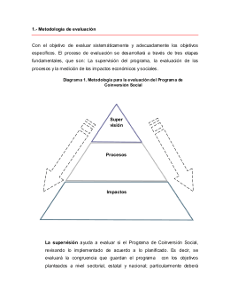 1.- Metodología de evaluación