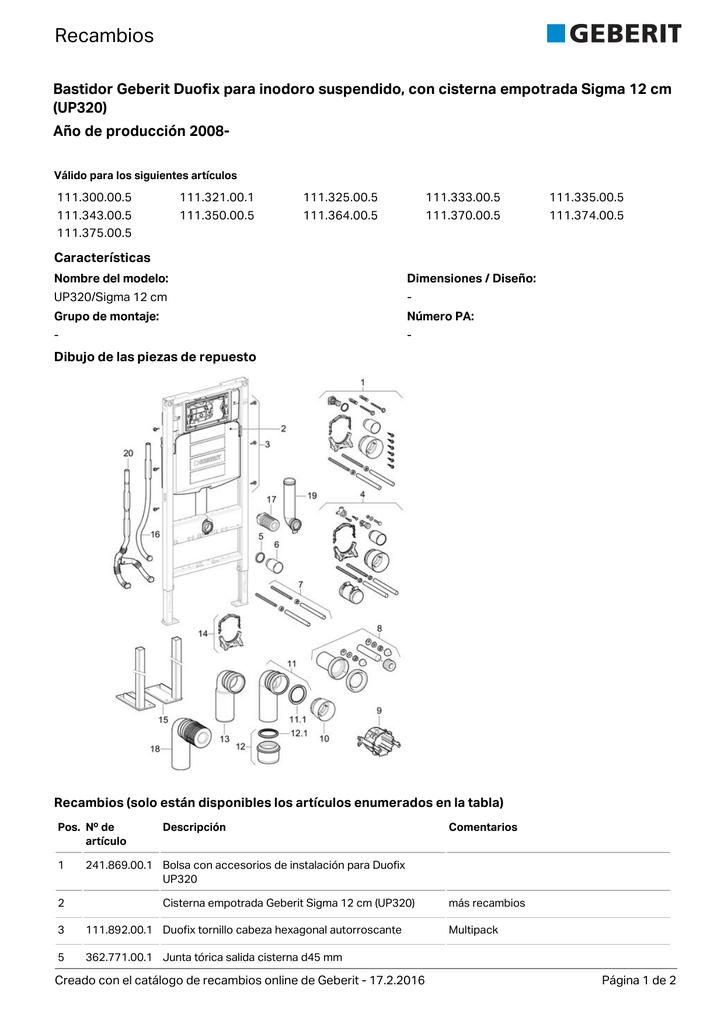 Codo De Desag/üe para Inodoro Suspendido Geberit 366.061.16.1