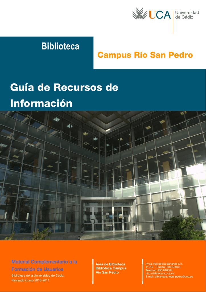 Guía de Recursos de Información - Biblioteca del Campus de