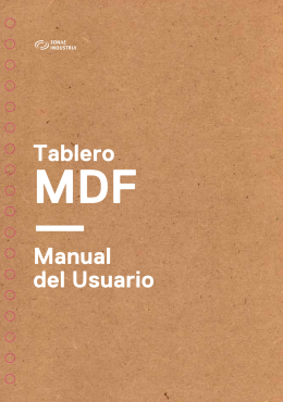 Manual del usuario - Tablero MDF (PDF)