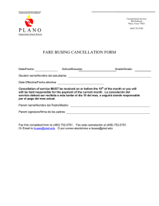 Base-Fare Busing Cancellation Form