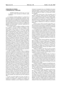 Decreto 395/08. Plan Concertado de Vivienda y Suelo 2008-2012.