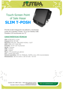 SLIM T-POSH  Touch-Screen Point of Sale Hasar