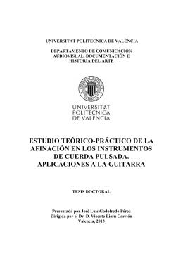 Estudio teórico-práctico de la afinación en instrumentos de cuerda pulsada. Aplicaciones a la guitarra.