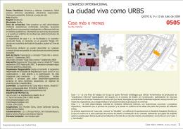 La ciudad viva como URBS CONGRESO INTERNACIONAL