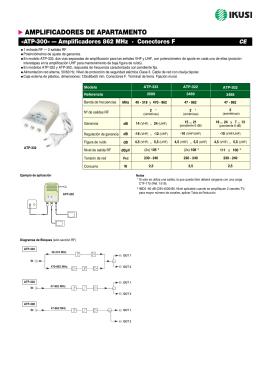 Amplificadores 862 MHz - ATP-300 (PDF)