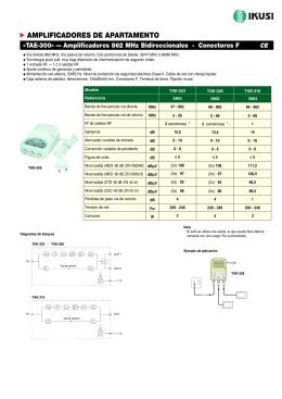 Amplificadores 862 MHz bidireccionales - TAE-300 (PDF)