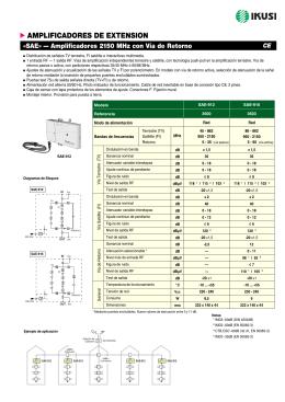Amplificadores 2.150 MHz con vía de retorno - SAE (PDF)