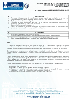 Norma Técnica DRPSA-005-2015.  Requisitos.