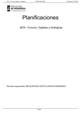 Planificaciones 6678 - Comunic. Digitales y Analógicas 1 de 6