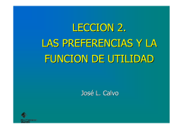 LECCION 2 . LAS PREFERENCIAS Y LA