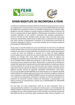 Spain Nightlife se incorpora a FEHR