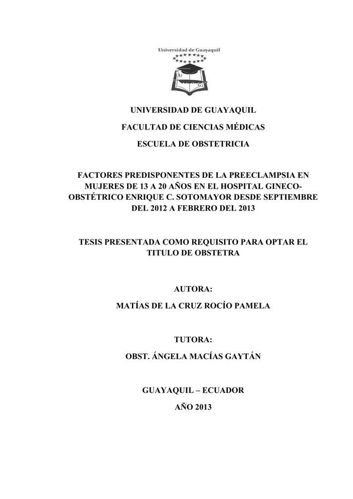 UNIVERSIDAD DE GUAYAQUIL FACULTAD DE CIENCIAS MÉDICAS ESCUELA DE ...