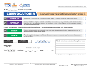 Convocatoria Carta