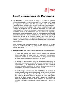 las 8 sinrazones de Podemos