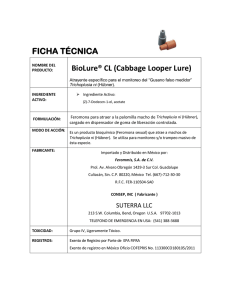 FICHA TÉCNICA BioLure® CL (Cabbage Looper Lure)