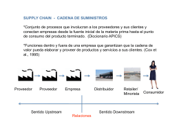 Supply chain - cadena de suministros