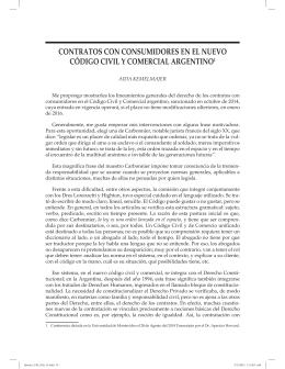KEMELMAJER, Aída – Contratos con consumidores en el nuevo Código Civil y Comercial argentino