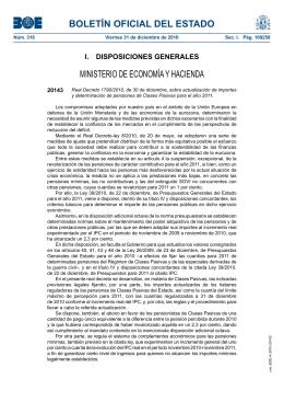 BOLETÍN OFICIAL DEL ESTADO MINISTERIO DE ECONOMÍA Y HACIENDA 20143