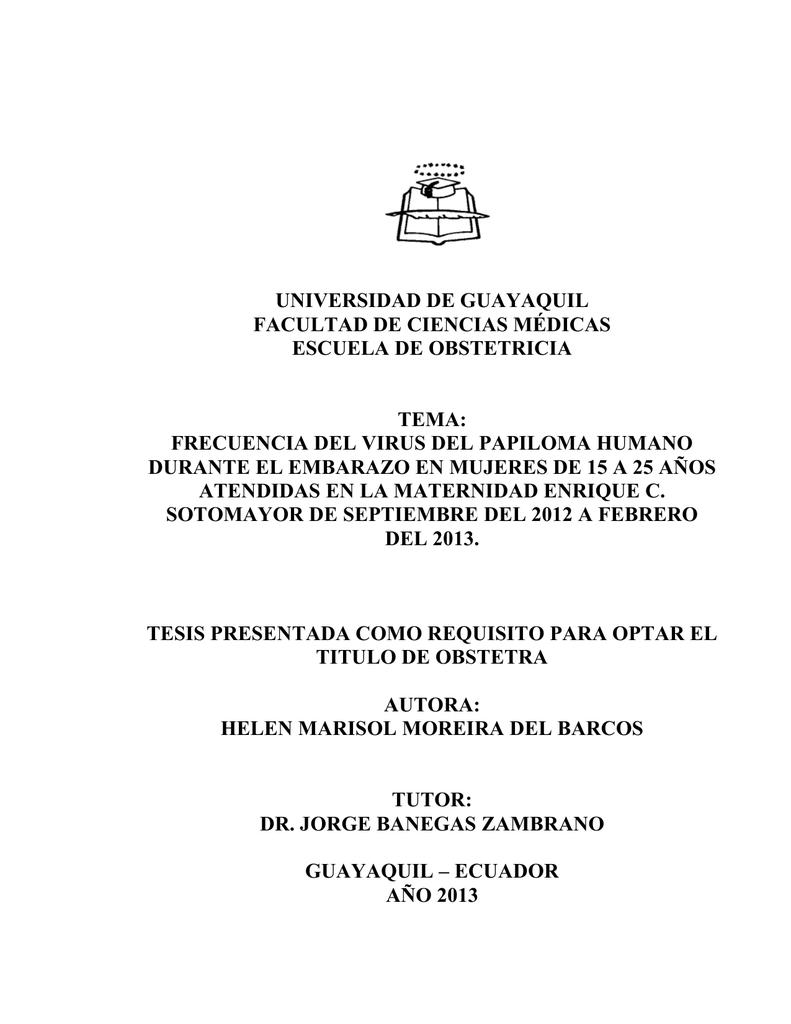 virus del papiloma guayaquil)