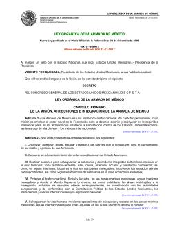 LEY ORGÁNICA DE LA ARMADA DE MÉXICO