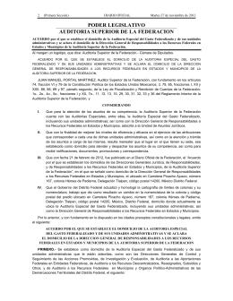 PODER LEGISLATIVO AUDITORIA SUPERIOR DE LA FEDERACION
