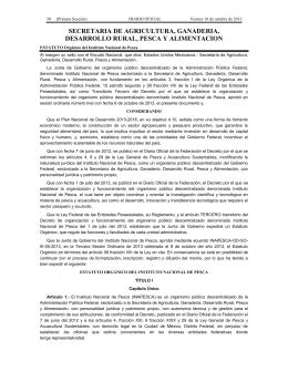 SECRETARIA DE AGRICULTURA, GANADERIA, DESARROLLO RURAL, PESCA Y ALIMENTACION