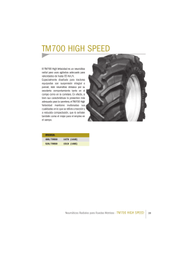 Catálogo TM700 HIGH SPEED