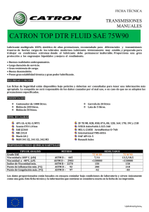 Catálogo CATRON TOP DTR FLUID SAE 75W90 trans manual