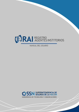 Manual Sistema RAI - Agentes Institorios