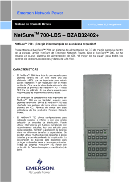 NetSure 700LBS-BZAB32402+ Data Sheet (Spanish)