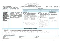 PLANEAMIENTO SEMANAL DEL 23 AL 26DE JUNIO DE 2015