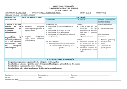 PLANEAMIENTO SEMANAL DEL 6 AL 10 DE ABRIL DE 2015